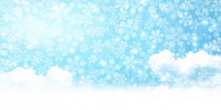 Illustration of the winter season royalty free stock image