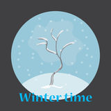 Illustration of winter tree royalty free illustration