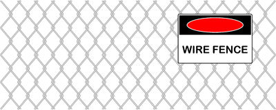 Illustration of wire fence Stock Photos