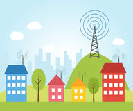 Illustration of wireless signal Stock Photo