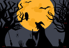 Illustration Of A Witch Royalty Free Stock Image