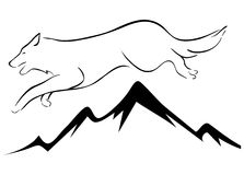 Illustration of wolf. A illustration of black and white wolf image Royalty Free Stock Photos