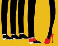 Choosing the right man from several men royalty free illustration