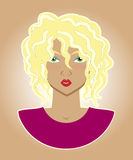 Illustration of a woman Royalty Free Stock Photo