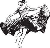 Illustration of woman dancing marinera Royalty Free Stock Image