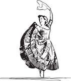 Illustration of woman dancing marinera Royalty Free Stock Photography