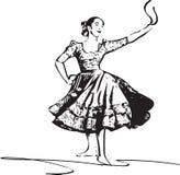 Illustration of woman dancing marinera Stock Photography