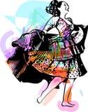 Illustration of woman dancing Stock Photo