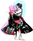 Illustration of woman dancing Royalty Free Stock Photos