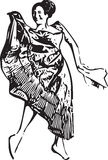Illustration of woman dancing Royalty Free Stock Images