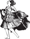 Illustration of woman dancing Stock Images