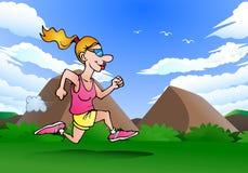 Female running athlete Royalty Free Stock Image