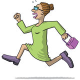 Illustration of a woman running Royalty Free Stock Image