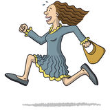 Illustration of a woman running Royalty Free Stock Photography