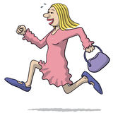 Illustration of a woman running Stock Photography
