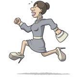 Illustration of a woman running Stock Photos