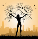 Illustration of woman tree Royalty Free Stock Photography