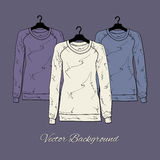 Illustration of womens sweaters. Royalty Free Stock Image