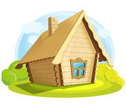 Illustration of  wooden house Stock Photography