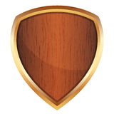 Illustration of wooden shield Royalty Free Stock Photos