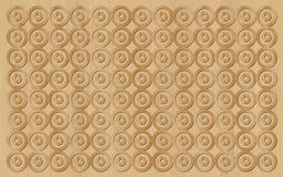 Wooden structure with circle pattern Stock Images