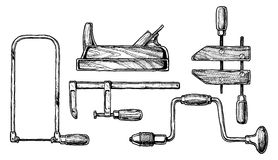 Illustration of woodworking tool Stock Image