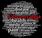 Word cloud on fibromyalgia Royalty Free Stock Photos