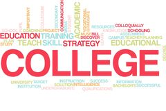 College word cloud royalty free stock images