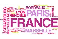 France word cloud royalty free illustration
