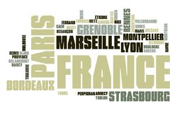 France word cloud stock illustration