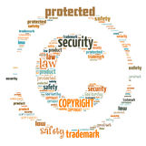 Illustration word of copyright symbol Royalty Free Stock Photography
