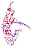Illustration word of dancing Stock Image