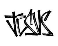 Illustration of the word Jesus witn an urban typography Royalty Free Stock Image