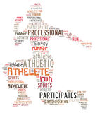 Illustration Word Of Athlete Royalty Free Stock Photo
