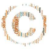 Illustration Word Of Copyright Symbol Stock Photos