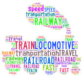 Illustration Word Of Locomotive Stock Photography