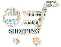 Illustration Word Of Shopping Chart Royalty Free Stock Photo