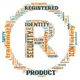 Illustration word of register symbol Royalty Free Stock Image