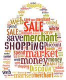 Illustration word of shopping bag Stock Image