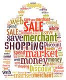 Illustration word of shopping bag Stock Image