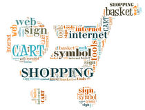 Illustration word of shopping chart Royalty Free Stock Photo