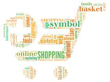 Illustration word of shopping chart Royalty Free Stock Photography