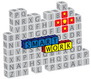 Illustration of word smartwork using text cubes Stock Image