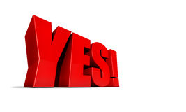 Illustration of word yes Stock Photos