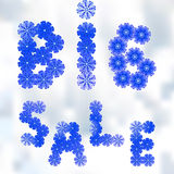 Illustration of words big sale Royalty Free Stock Photo