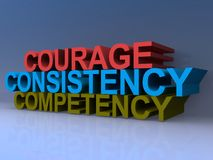 Courage Consistency Competency Stock Photography