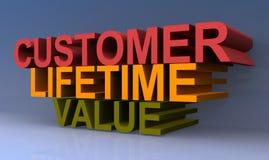 Customer lifetime value vector illustration