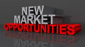 New Market Opportunities. An illustration of the words new market opportunities royalty free illustration
