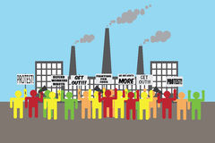 Illustration of workers protest vector illustration