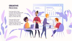 Illustration Working Space Team People Specialist vector illustration